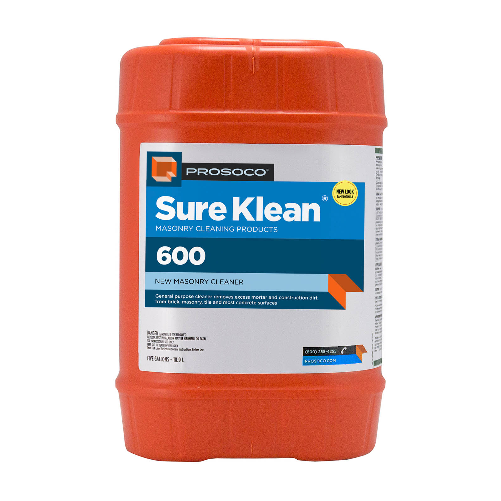 Prosoco Sure Klean® 600 Concentrated Acidic Cleaner, 5-gal.