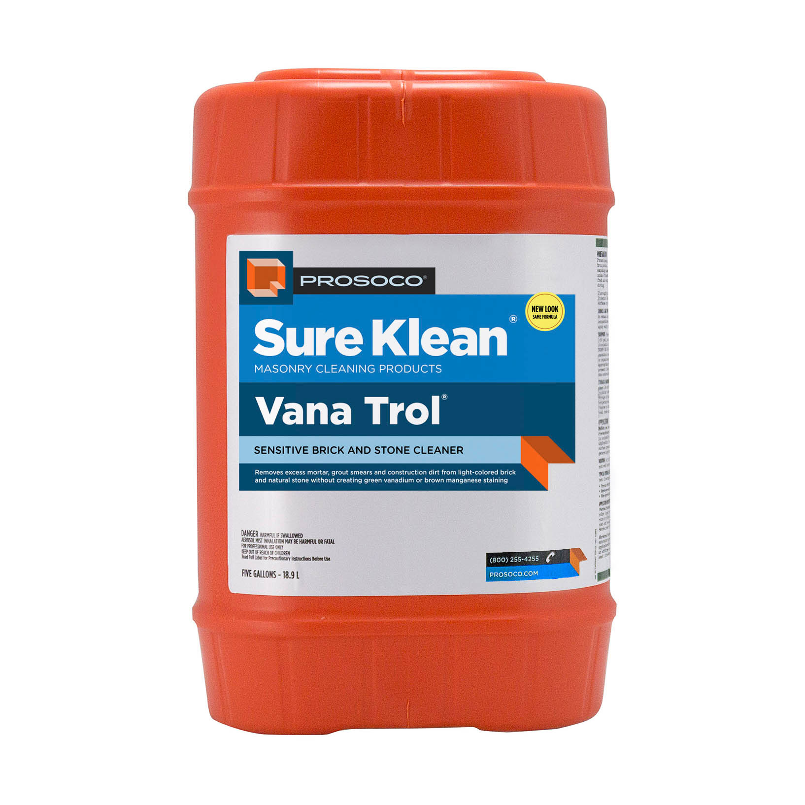 Prosoco Sure Klean® Vana Trol Acid Cleaner, 5-gal.