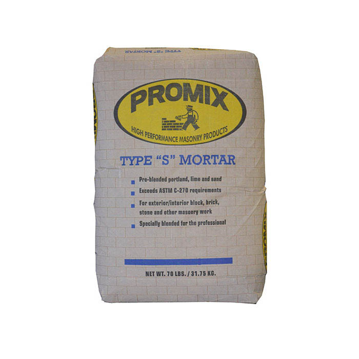 U-Mix PROMIX® Pre-blended Portland Lime and Sand Mix Mortar Type S, 70-lb.