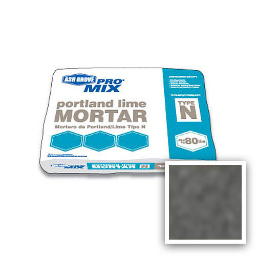Ash Grove Pro Mix® Mortar Portland/Lime Type N 80-lb., Charcoal