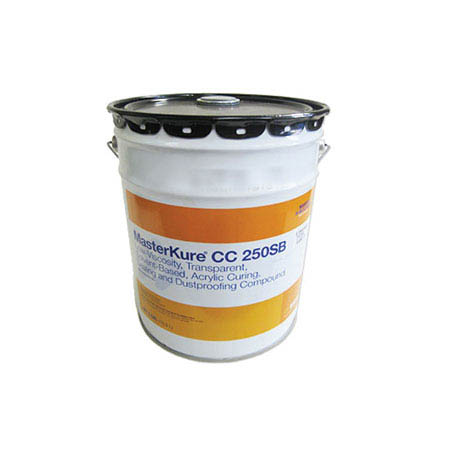 MasterKure® Kure-N-Seal 25LV, Low-Viscosity, Transparent, Sealing and Dustproofing Compound, 5-gal.