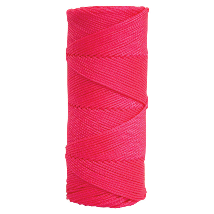 Stringliner Fluorescent Pink 500-ft. Braided Construction Line #18 Nylon